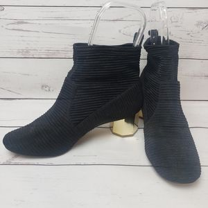 Katy Perry 8.5M Daina Black/Gold Ankle Bootie